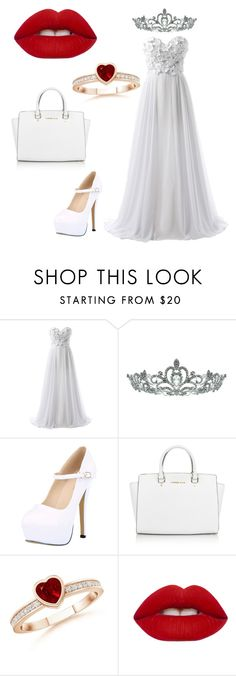 """""""Wedding's day goals"""" by kylie-and-kendall ❤ liked on Polyvore featuring Kate Marie, Michael Kors and Lime Crime"""