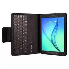 """nice Funda con Teclado en español (incluye letra Ñ) conexión Bluetooth y Extraíble para Tablet Samsung Galaxy Tab A 9.7"""" / Samsung Galaxy Tab S2 T810 9.7""""- Color NEGRO"""
