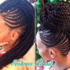 Hair inspiration @embracebraids #inspiration #newstyles #protectivestyle