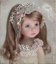 OOAK Hair Frillz 4 Effner Little Darling Ellowyne Prudence Amber BJD by Linda   eBay itsa_doll_hat_affair