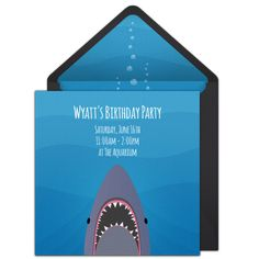 Planning A Shark Themed Birthday Party This Summer Check Out Great Free Invitation We Love For Inviting Friends To Beach
