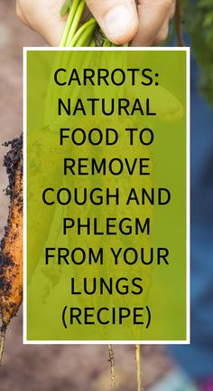 CARROTS: Natural Food to Remove Cough and Phlegm from your Lungs (Recipe) Natural Remedies For Heartburn, Natural Teething Remedies, Herbal Remedies, Health And Wellness, Health Tips, Health Care, Nicotine Withdrawal, Lunge, Slime