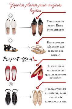 Zapatos planos para mujeres bajitas o petietes