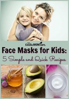 Face Masks for Kids: 5 Simple and Quick Recipes to have a diy spa day with your child! These easy facials are fun to make with your daughter. # girls spa day at home face masks Face Masks for Kids: 5 Simple and Quick Recipes Face Masks For Kids, Easy Face Masks, Homemade Face Masks, Diy Face Mask, Face Diy, Face Face, Diy Exfoliating Face Scrub, Diy Face Scrub, Quick Easy Meals