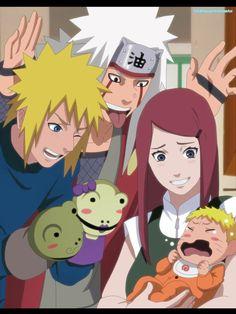 Kushina, Naruto, Minato and Jiraiya