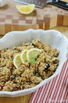 Bulgar Wheat Salad with Garbanzo Beans, Lemon and Sun-Dried Tomatoes
