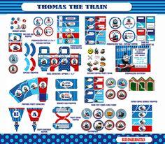 Thomas birthday thomas the Train Party Thomas by blueangeldigitals