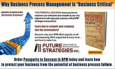 Is your BPM project set up for success or failure?  Knowing what your BPM success will look like before you even begin your journey will help you achieve it. So will knowing what are the most common causes of failure. We learn more from failure than success, but it's easier, cheaper and quicker to learn from others' mistakes rather than go through the pain personally. Read more...