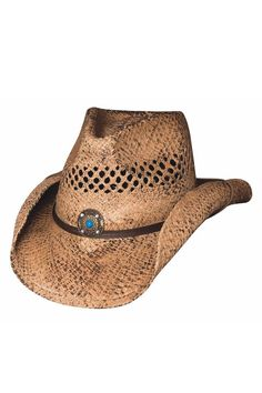 282e5a2fa20f2 Affordable Straw Pinchfront Cowboy Hat by Bullhide Old Lady Clothes