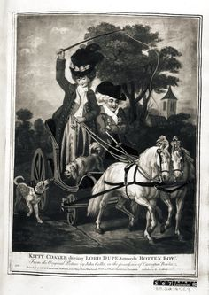 Image gallery: Kitty Coaxer driving Lord Dupe, towards Rotten Row 1779 British Museum
