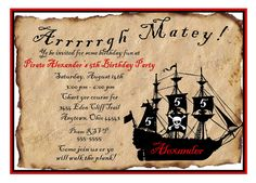 How to Create Pirate Birthday Invitations Designs