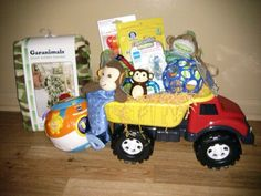 Easter basket for my 9 month old son basket is filled with the baby boy easter idea instead of a basket use a dump truck for the little negle Images
