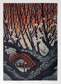 plum blossoms in tenjin / ray morimura