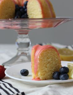 There is nothing artificial in this Lemon Pound Cake with Fresh Strawberry Icing. The cake is moist and the strawberry icing is out of this world! Lemon Desserts, Lemon Recipes, Fun Desserts, Cake Recipes, Dessert Recipes, Frosting Recipes, Cookbook Recipes, Moist Lemon Pound Cake, Pound Cakes