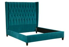 Charles Tufted Bed, Peacock