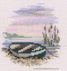 Rowing Boat - Minuets - Cross Stitch Kit from Derwentwater Designs