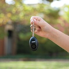 SABRE Personal Self-Defense Safety Alarm on Key Ring with LOUD Dual Alarm Siren Heard up to 500 ft/150 meters Away. To Use, Pull Metal Chain from Base