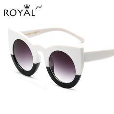 Royal girl mulheres óculos de sol grande moldura de espelho óculos chunky cat eye sunglasses mulheres marca designer ss811 em Óculos de sol de Das mulheres Roupas & Acessórios no AliExpress.com | Alibaba Group