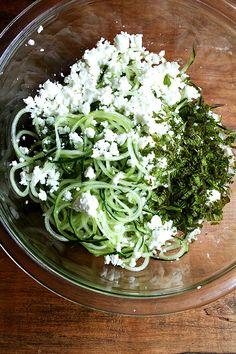 cucumber, feta and mint salad (also turning slicer vs. mandoline techniques)