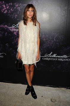 Alexa Chung attends Christian Siriano's celebration of his new fragrance with a Stoli Vodka cocktail at the designer's pop-up, Silhouette Shoppe, in the Meatpacking District on September 3, 2014 in New York City.