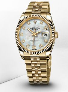 Womens Rolex gold Datejust watch