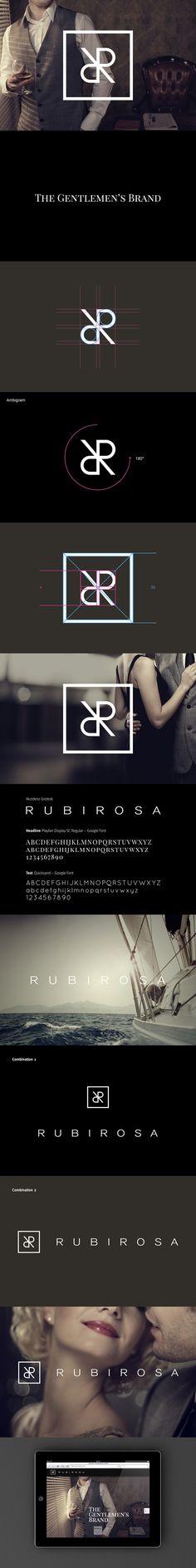 Rubirosa // Branding + Website by Adicto Multichannel Agency, via Behance