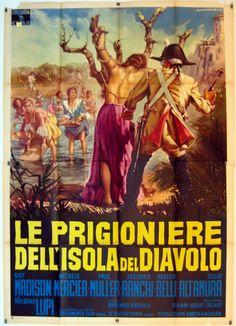 """Women of Devil's Island - also known as """"Le prigioniere dell'isola del diavolo"""" (1962) Stars: Guy Madison, Michèle Mercier, Federica Ranchi ~  Director: Domenico Paolella"""