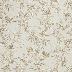 Fabricut Aviary Toile Bisque Wallpaper