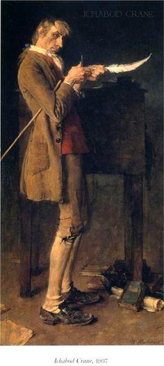"""""""Ichabod Crane"""" (1937) ~ Norman Rockwell ~ Miks' Pics """"Artsy Fartsy lll"""" board @ http://www.pinterest.com/msmgish/artsy-fartsy-lll/"""