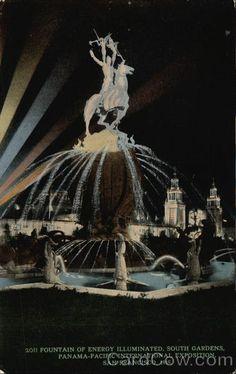 Fountain of Energy Illuminated, South Gardens