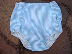 Vintage 1960s Baby Training Pants Striped Water by bycinbyhand, $15.00