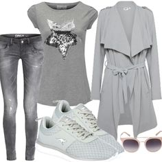 Onlivy grey für Damen zum Nachshoppen auf Stylaholic #outfits #styleinspiration #outfitideas #look #lookoftheday #fashion #trending #style #clothing  #mode #damenmode #bekleidung #stylaholic #outfit #sexy #elegant #casual #fashion