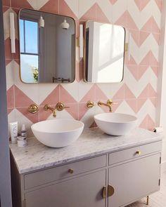 Interior Design & Hospitality Design Industry-Tips - Bathroom Wallpaper Design Ashling McCloy - Bathroom Flooring, Bathroom Faucets, Small Bathroom, Bathroom Ideas, Family Bathroom, Master Bathroom, Modern Bathroom Design, Bathroom Interior Design, Bathroom Designs