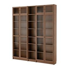 """IKEA - BILLY / OXBERG, Bookcase, white, 78 3/4x93 1/4x11 3/4 """", , Adjustable shelves can be arranged according to your needs.Adjustable hinges allow you to adjust the door horizontally and vertically.Glass-door cabinet keeps your favorite items free from dust but still visible.Narrow shelves help you use small wall spaces effectively by accommodating small items in a minimum of space."""