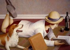 54 Unmistakable Painting Style By Spanish Artist Fabio Hurtado Reading Art, Woman Reading, Reading Time, Love Reading, People Reading, Book People, I Love Books, Books To Read, Image Avatar