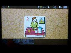 PictogramAgenda permite además tachar los pictogramas de aquellas acciones que no pueden realizarse y puede utilizarse tanto en vertical como en horizontal. Su autor, Lorenzo Moreno nos muestra su funcionamiento en el siguiente video