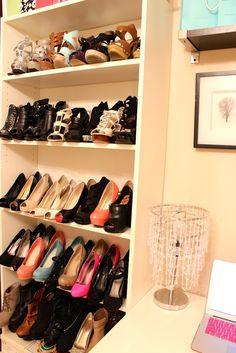 shoe shelf! more like heel shelf, which i need !