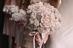 beaded bridal bouquet! That way you get to keep it...