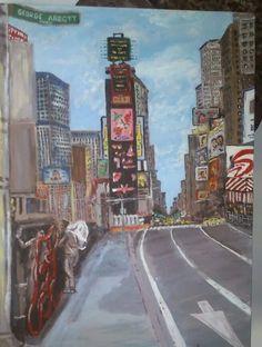 Times Square. Acrilico sobre lienzo de 30×40 cm.