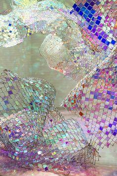 Soo Sunny Park's #iridescent art installations | #holographic #reflective