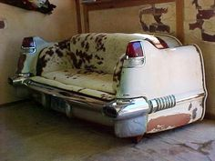 With a little #upcycling you can turn a part of an old car into a couch