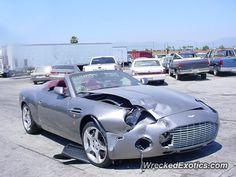 Aston Martin Zagato crashed
