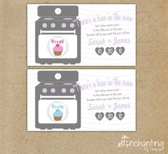 There's a Bun In The Oven Custom Made Gender Reveal Scratch Off Cards