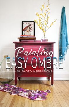 Painting Easy Ombre Effect on Furniture