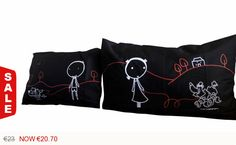 1N- Twin Souls . Bed Pillow Cases / Covers by karmabcn. Explore more products on http://karmabcn.etsy.com