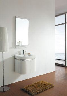 """24"""" Solid Wood Modern/ Contemporary Design Bathroom Vanity Cabinet With Mirror #Royalton #Contemporary"""