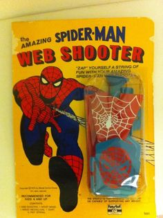 The original Spider-Man Web Shooter ... If anyone knows where we can still get one of these PLEASE let us know!
