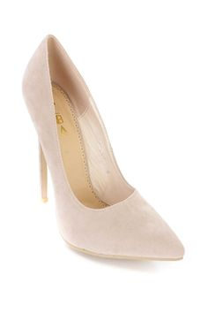 Nude Single Sole Suede Pump...a must for every  season