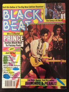 Prince BLACK BEAT Magazine January 1992 Cover Paisley Park Diamonds And Pearls
