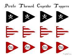 Free Pirate Cupcake Printable Toppers - FrugalfulFrugalful